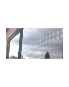 Window Etch / Manifestation - Opaque Circles.  Pre Spaced Single Row