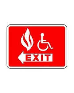 Disabled Fire Exit Left Safety Sticker