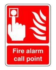 Fire Alarm Call Point 2 Safety Sticker