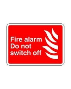 Fire Alarm do not switch off Safety Sticker