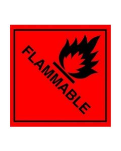 Flammable Safety Sticker