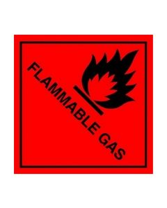 Flammable Gas Safety Sticker