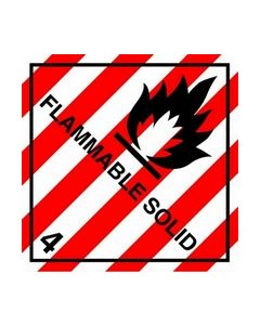 Flammable Solid Safety Sticker