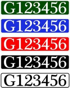 Great Ouse Plate Style Numbers