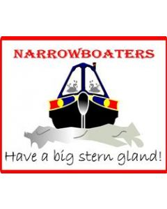 Funny Narrowboaters Have A Big Stern Gland Sticker