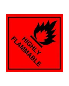 Highly Flammable Safety Sticker