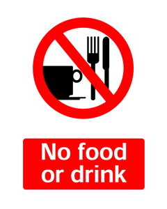 No Food or Drink, Prohibition Safety Sticker