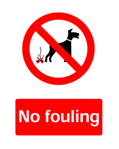 No Fouling, Prohibition Safety Sticker