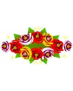 Traditional Style Canal Rose Sticker  Design 1