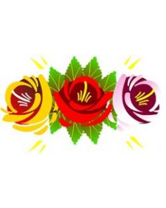 Traditional Style Canal Rose Sticker  Design 2