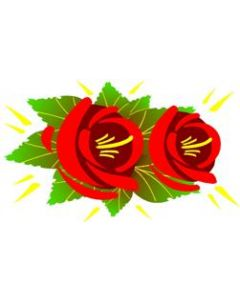 Traditional Style Canal Rose Sticker  Design 5