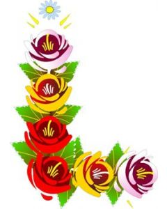 Traditional Style Canal Rose Sticker  Design 8
