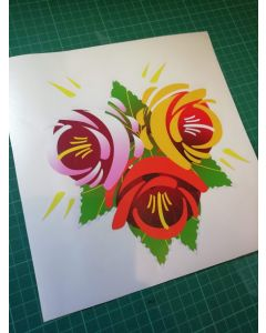 Traditional Style Canal Rose Sticker  Design 3