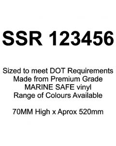 SSR Boat Number Stickers (Pair) 50mm