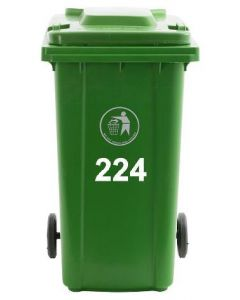 Wheelie Bin Numbers AND Name sticker