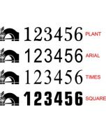 BW Boat Number Stickers