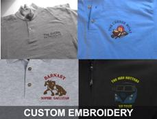 CUSTOM EMBROIDERY BY VINYL CUT GRAPHICS