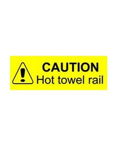 Caution Hot Towel Rail Sticker