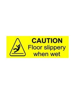 Caution Floor Slippery When Wet Sticker