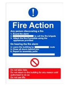 Fire Action Sticker