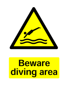 Warning Diving Area Safety Sticker