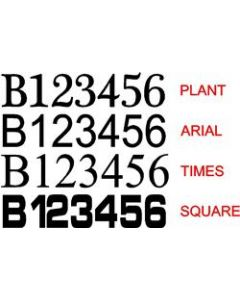 Bridgewater Canal Boat Number Decals (Pair)