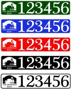 CRT Boat Index Number / Sticker Plate Style - With Boat Name / Colour